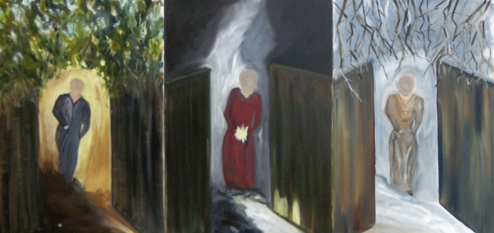 "Seasons of Wonder, Triptych, 36"" x 52"", Oil on Canvas, 2007"