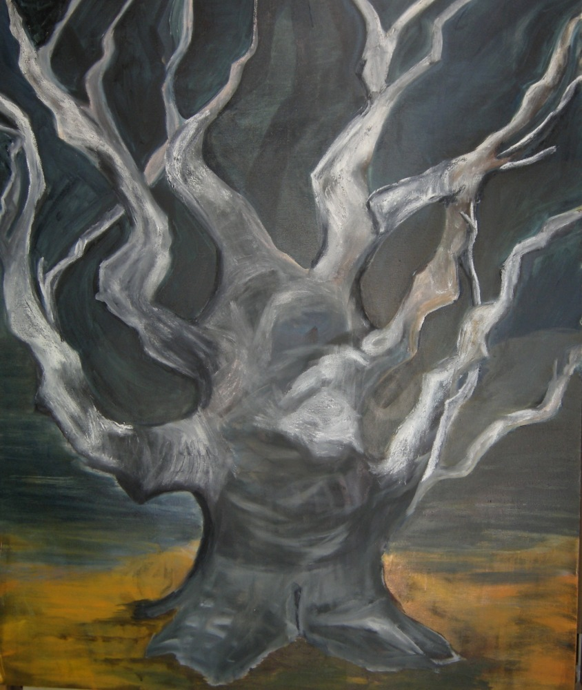 "The Witch Tree, 72"" x 60"", Oil on canvas, 2011"