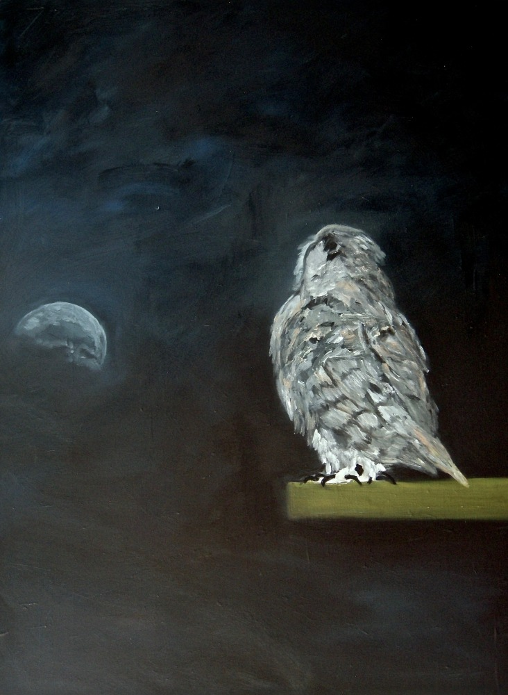 """I Will Wait for the Moon to Rise..."" 38"" x 30"", Oil on Canvas, 2014"