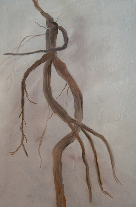 "Roots of the Limber Pine, 36"" x 24"", Oil on Linen, 2013"