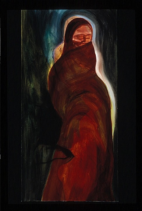 "Wrapped in Silence, 36"" x 24"", Oil on canvas, 2006"