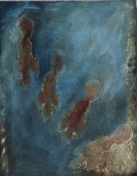 Untitled, 18 x 13, 2004, oil on tar paper.