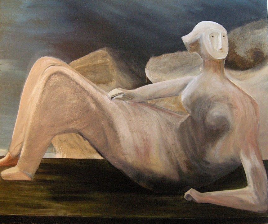 "The Bone Mistress, 60"" x 72"", Oil on Canvas, 2011"